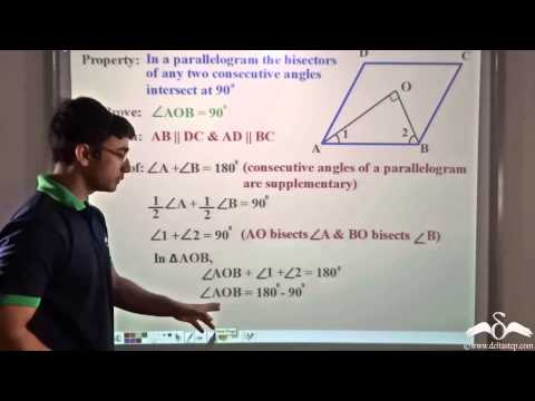Parallelogram: Bisectors of Consecutive angles