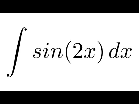 Integral of sin(2x) (substitution)