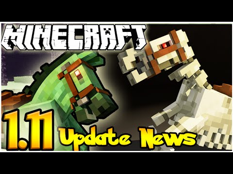 MINECRAFT 1.11 UPDATE NEWS & SUGGESTIONS: RIDING UNDEAD HORSES & SKELETON HORSES!
