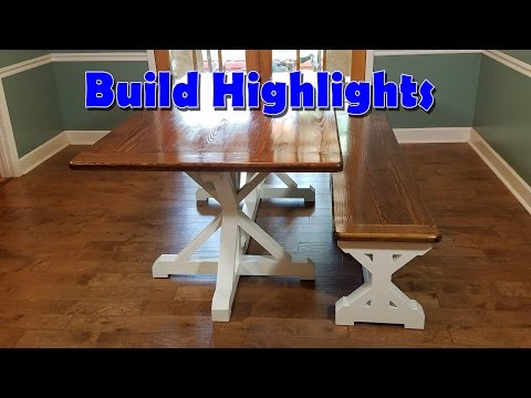 Farmhouse Table - Build Highlights