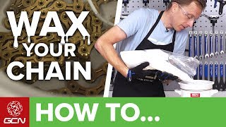 How To Wax A Bicycle Chain   Maintenance Monday