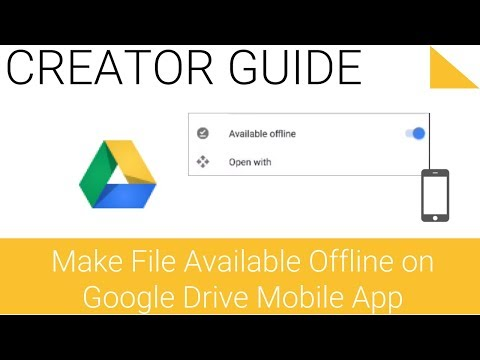 Make File Available Offline on Drive Mobile - 2.33 - Google Drive Series