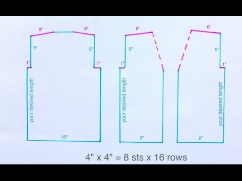 HOW 2 CALCULATE STITCHES & ROWS FROM YOUR SWATCH (4 YOUR VEST OR ANY KNIT)