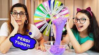 DESAFIO DA ROLETA MISTERIOSA DE SLIME (Mystery Wheel Of Slime Challenge) | Luluca
