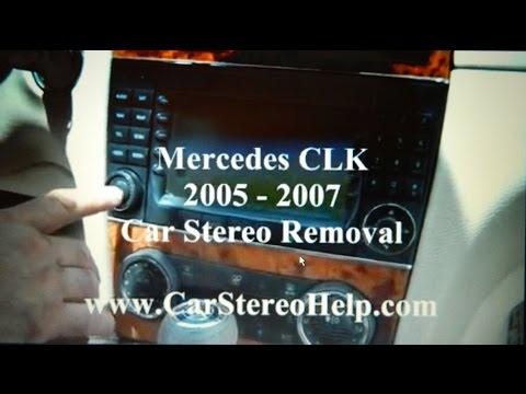 How to Mercedes CLK Bose Stereo Removal 2005 - 2007 replace repair