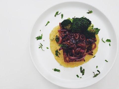 BALSAMIC GLAZED TOFU & POLENTA | RECIPE?! LIVE EP #2 | hot for food