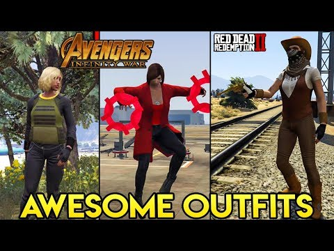 GTA Online 15+ AWESOME OUTFITS (Black Widow & Scarlet Witch from Infinity War, RDR2 Cowgirl & More)