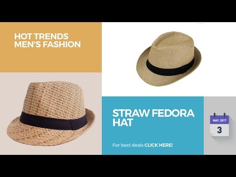 Straw Fedora Hat Hot Trends Men's Fashion