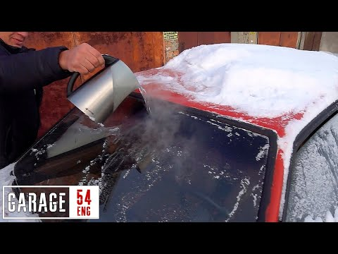 What happens when you POUR boiling water onto a frozen windshield?