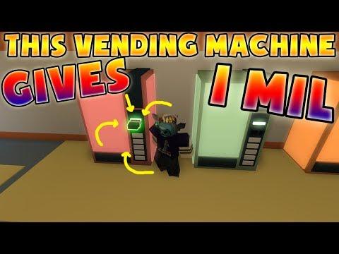 ROBLOX JAILBREAK THIS VENDING MACHINE GIVES FREE MONEY!! (1M DOLLARS!!)