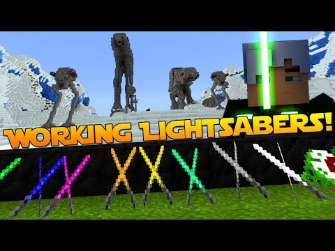 Working LIGHTSABERS In Minecraft! [Xbox One / MCPE / Win 10] Better Together 1.2.3 Mod / Add On!