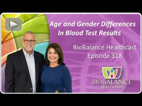 Age and Gender Differences in Blood Test Results