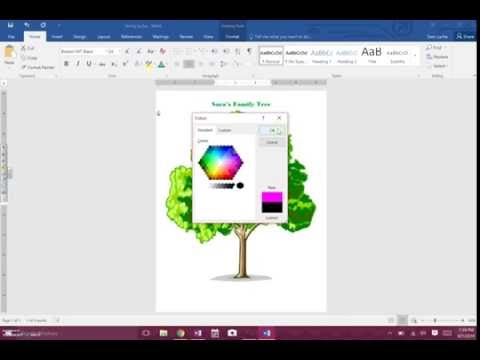 How to - Family Tree on Word