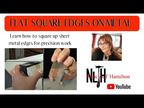 Flat Square Edges on Sheet Metal | Jewelry Tips with Nancy