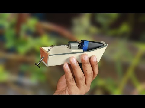 How to make a Electric Boat at home | New Idea!