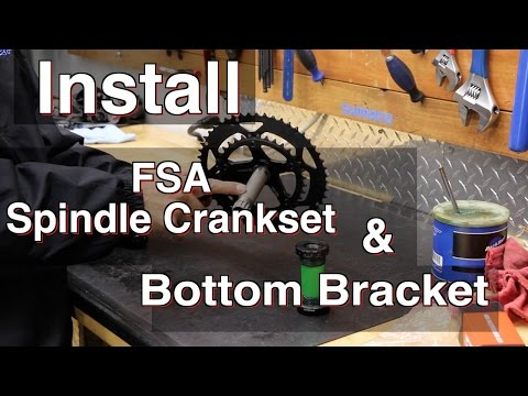 How To install an FSA Threaded Bottom Bracket & a 24mm spindle Crankset