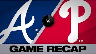 Phillies bash 5 home runs in 6-5 victory | Braves-Phillies Game Highlights 9/10/19