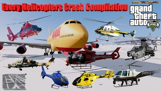 GTA V: Every Helicopters Crash and Fail Compilation (60FPS)