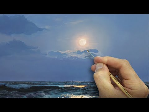 How To Paint a Moon | Oil Painting Tutorial