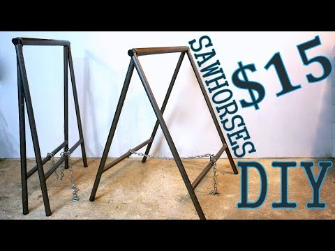 Steel SawHorses DIY (free plans)