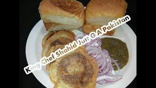 Burnsroad Ke Mashoor Bun Kabab With Special Chatni ( King Chef Shahid Jutt G.A Pakistan )