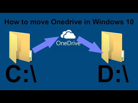 How to move your Onedrive folder in Windows 10