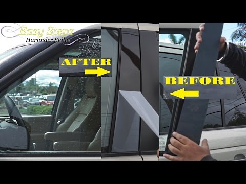 How to Replace Faded Door Pillar Trims on Range Rover | Window Trims | Glossy Finish