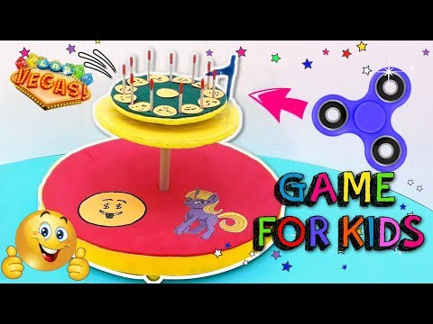 GAME FOR KIDS WITH CARDBOARD - How to Make Spinning Wheel with a fidget spinner - Mr. DIY
