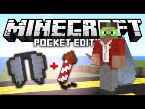 Infinite Elytra Flight Booster Trick in MCPE! | Minecraft PE 1.0 Addon