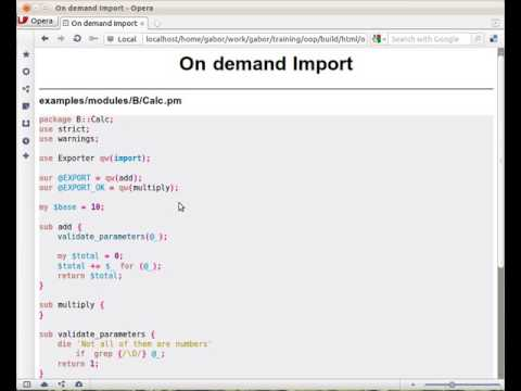 Import on demand in Perl