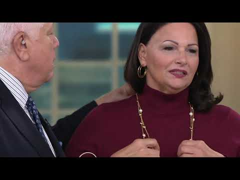 Dennis Basso Mock Neck Sweater with Button Cuff Trim on QVC