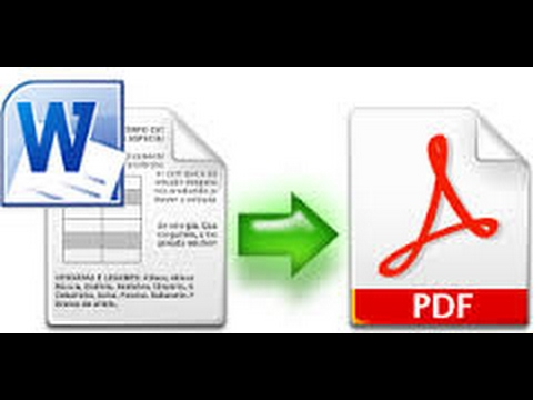 Convert word DOC to PDF quick way in windows 7