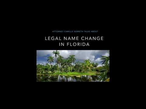 Legal Name Change in Florida