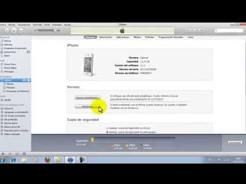 Como restaurar el iPhone con itunes con ios 5.1.1