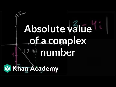 Absolute value of a complex number | Imaginary and complex numbers | Precalculus | Khan Academy