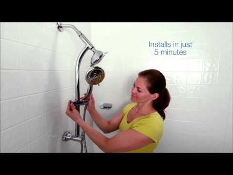 Install your SimplyClean slide bar combination shower in less than 5 minutes!