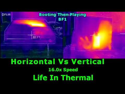 PS4 Pro Horizontal vs Vertical Thermal Test
