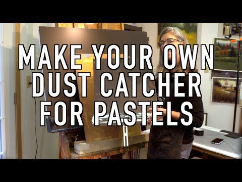 Pastel Painting - How To Make Dust Catcher For Pastels.