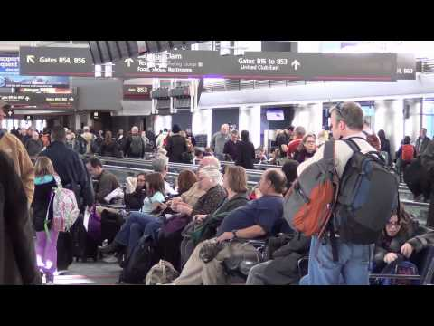 A tour of Denver International Airport's Main Terminal and B Terminal