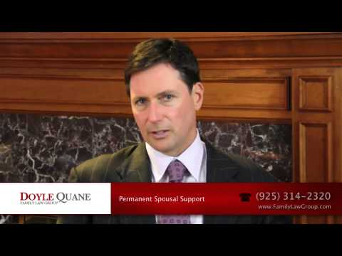 Permanent Spousal Support (Alimony) in California