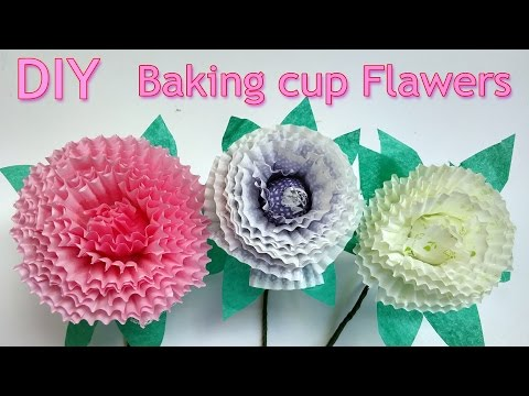DIY crafts: How to make Baking cup flowers - Ana DIY crafts