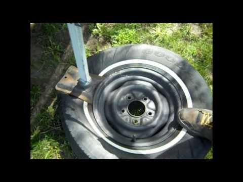 How To dismount and mount car tire on rim (  With simple tools )