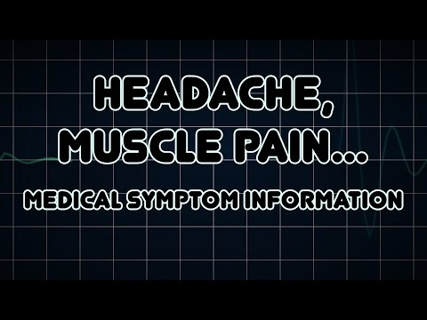 Headache, Muscle pain and Joint pain (Medical Symptom)