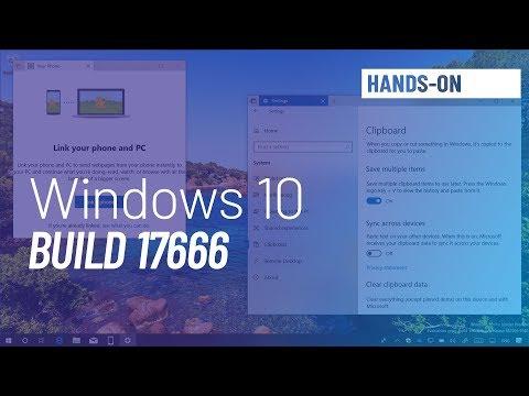 Windows 10 build 17666: Cloud Clipboard, dark File Explorer, Fluent Design, more