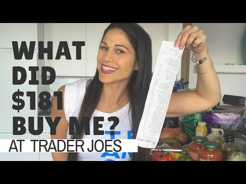 What did $181 buy me at Trader Joe's?  || Grocery haul