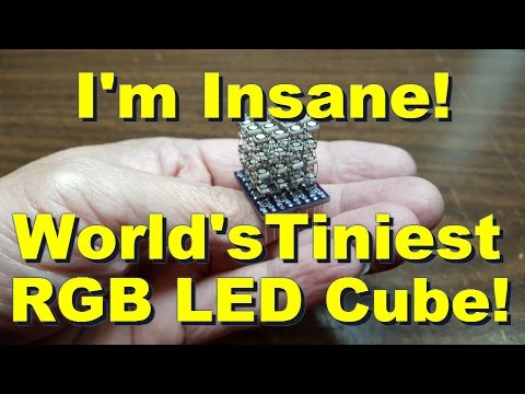 HariFun #129 - The World's Tiniest RGB LED Cube is finally done!