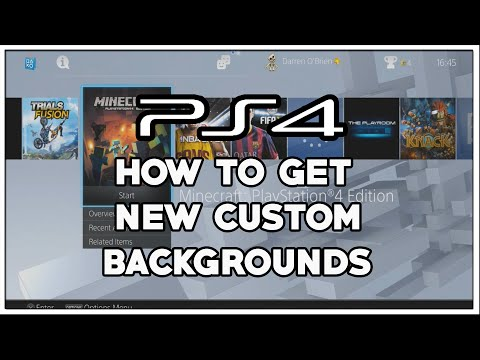 PS4 - How to get dynamic background themes on PS4 update 2.00