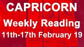 CAPRICORN WEEKLY TAROT READING - FEB 4TH TO 10TH 2019