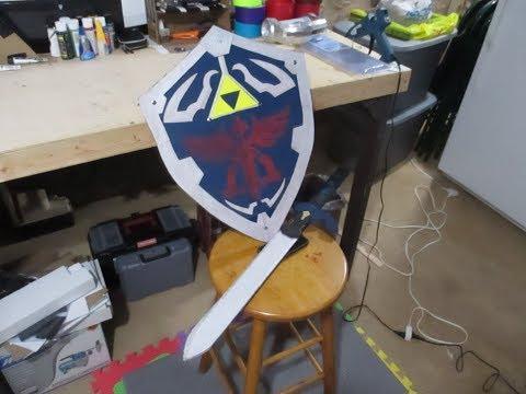 DIY Zelda Hylian Sword and Shield