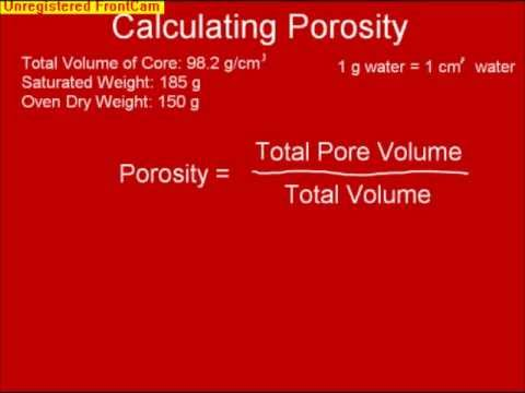 Calculating Porosity and Particle Density